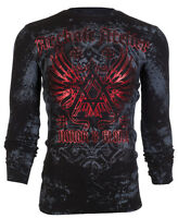 ARCHAIC by AFFLICTION Mens LONG SLEEVE THERMAL Shirt ACHILLES Biker $58 NWT