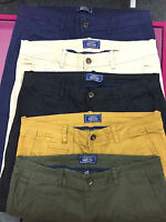 Mens Slim Fit Cotton Rich Chinos D&H Menswear Twills Strechy Summer Trousers