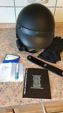 Motorradhelm Caberg DM 3 Freedom, Top Tragekomfort, matt-schwarz, Handschuhe