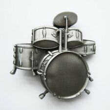 Drums Drum Kit Music Rock & Roll Metal Fashion Belt Buckle