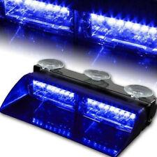 Car 16led 18 Flashings Blue/Blue Emergency Vehicle Dash Warning Strobe Light
