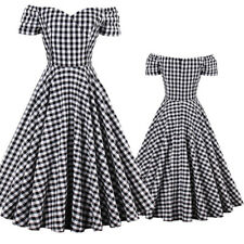 Womens Vintage 50s 60s Rockabilly Housewife Swing Pinup Evening Party Dresses