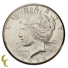 1922-S Silver Peace Dollar $1 (Choice BU Condition) Brilliant Full Mint Luster!