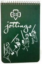 Vintage Girl Scout 60's Jottings Notebook Spiral NICE