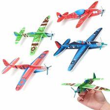 10Pcs Coloured  Planes Flying Glider Plane Pocket Toys Kids Birthday Party Gift