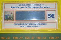 Gomme TML spéciale pour nettoyage & entretien de la voie - Ne raye pas le rail