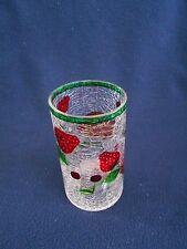 Antique/Vintage Cracked Glass Tall Tea Light Candle Holder - Fruits