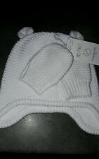 Mothercare my first knitted hat and mitten set unisex baby boy girl bnwt