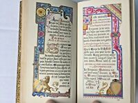 19th C Illuminated Manuscript Handwritten Calligraphy Book Of Hours Missal illus