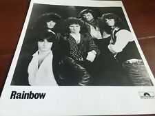 "RAINBOW RITCHIE BLACKMORE POLYDOR RECORDS press photograph size 10"" x 8"""