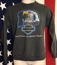 Vintage 1996 Harley Davidson Biker Trucker Sweatshirt Shirt Eagle Motorcycle M