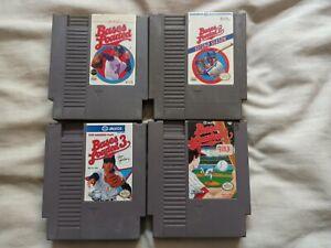 4 Nintendo NES Games Bases Loaded 1-4