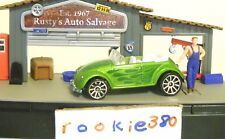 LOOSE Hot Wheels 2007 MYSTERY CAR * VW BUG CONVERTIBLE * VOLKSWAGEN DARK GREEN