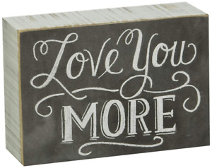 """Primitives by Kathy 22283 Chalk Box Sign, 5"""" x 3.5"""", Love You More"""
