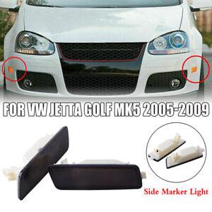 Front Clear Bumper Side Marker Light Fit For VW 2006-09 MK5 RABBIT GTI JETTA GLI