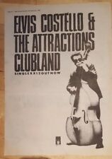 Elvis Costello attractions clubland 1980 press advert Full page 37 x 27cm poster