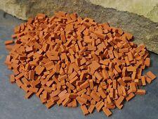 BULK BUY 1000 Mini/Miniture/Miniature Red REAL BRICK Bricks 4 Dollshouse/Railway