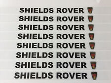 SHIELDS ROVER NUMBER PLATE STICKERS (PAIR) ROVER MINI 75 MGZR METRO MGTF ETC