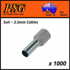 Cable Ferrules Loose Bags 2.5mm2 X 500 Pack Bootlace Pin Crimps Wire Sleeves