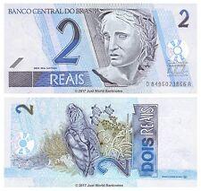 Brazil 2 Reais ND (2001-) P-249 Banknotes UNC
