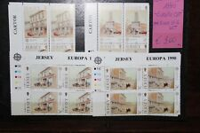 """STAMPS JERSEY 1990 """"EUROPA CEPT"""" MNH** BLOCK OF 4 SET (CAT.5A)"""