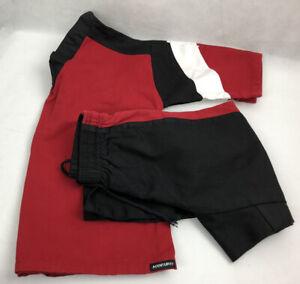 CENTURY Martial Arts Uniform Karate Taekwondo MMA Black Red Youth Size 0 Lot Set
