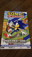 2018 SDCC WONDERCON IDW SONIC THE HEDGEHOG PROMO POSTER SIGNED AUTO BY IAN FLYNN