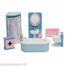 """Le Toy Van ME060 Badezimmer """"Bathroom Set"""" 1:12 für Puppenhaus Holz NEU!     #"""