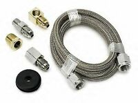 Autometer 3227 - # 4 AN SS Braided Oil Fuel Pressure Gauge Hose Tubing Kit