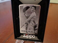 JOHN WAYNE IN SADDLE COWBOY IN CHAPS ZIPPO LIGHTER MINT IN BOX