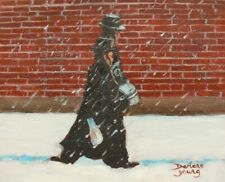 Heading to Practice, Outremont Scene,  8x10, Oil , Darlene Young Canadian Artist