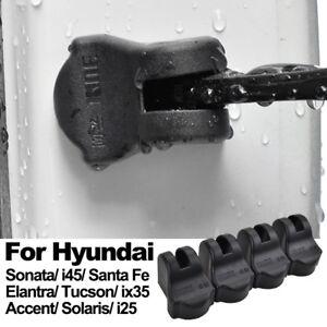 4pcs Door Check Arm Limiting Stopper Case For Hyundai Santa Fe Solaris Tucson