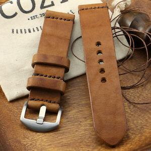 Handmade Vintage 401 Leather Minimalist Watch Strap (18mm, 20mm, 22mm, 24mm)