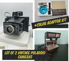 Lot/3 POLAROID Cameras Square Shooter 4 & Polaroid Sun 600 +Color Adaptor kit660