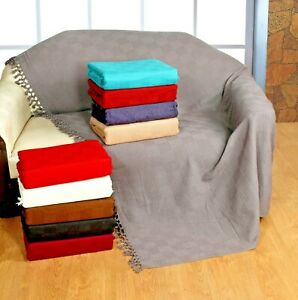 Ascot Cotton Settee Throw Blanket,Sofa Throw,Settee Cover [ 10 COLORS, 5 SIZES ]