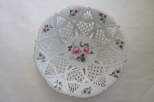 Romania Hand Painted & Modelled Reticulated Porcelain Sumi Bowl Dish Artist Sgnd