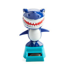 SHARK Solar Powered Dancing Animals Sun Catcher Bobble Head Toy Office Dancer
