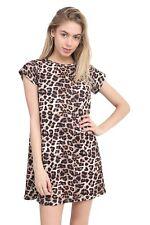 Ladies Women** CAP**Sleeve Swing Skater Dress  Dance Party Top Dresses t-Shirt