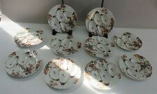 Set of 10 Matching Antique French HAVILAND OYSTER Plates  c. 1900  porcelain
