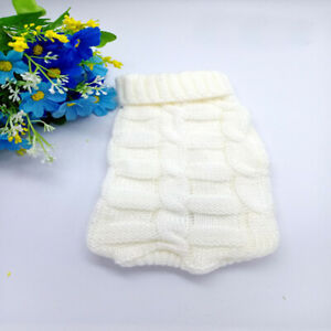 Pet Cat Small Dog Knitted Sweater Cat Puppy Clothes Jumper for Chihuahua Teacup
