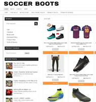 SOCCER BOOTS UK WEBSITE WITH 1 YEARS HOSTING - ECOMMERCE BUSINESS - DOMAIN