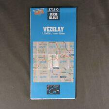 Carte IGN 2722 O - Série Bleue - Vézelay ( Yonne )