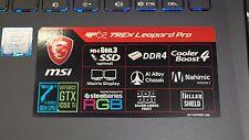 """MSI 15.6"""" FHD Gaming GP62X Leopard Pro i7-7700HQ Nvidia GTX 1050Ti 4GB GDDR5 SSD"""