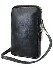 kleine Damen Leder Umhängetasche Crossbody Handtasche Geldbörse Handytasche Mini