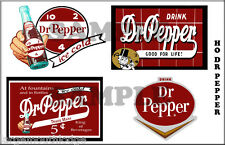 HO SCALE DR PEPPER BUILDING  SIGN 4 SIGNS DECAL SHEET