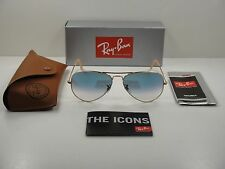 RAY-BAN AVIATOR GRADIENT SUNGLASSES RB3025 001/3F GOLD FRAME/BLUE LENS 62MM