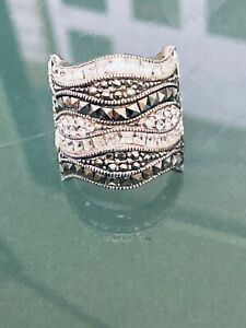 Lois Hill Sterling Silver Diamond Nuggets Size 7 Ring
