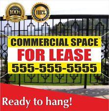Commercial Space For Lease Banner Vinyl Mesh Banner Sign Flag Custom Phone