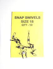 Snap Swivels Size 18  Pack 10 - Carp, Catfish, Pike, Sea Fishing etc