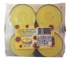 CITRONELLA MAXI TEA LIGHTS-confezione da 4 da prezzi CANDELE CERA Tealights Garden